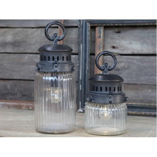 Fransk stald lanterne H: 30 cm. (buttet)