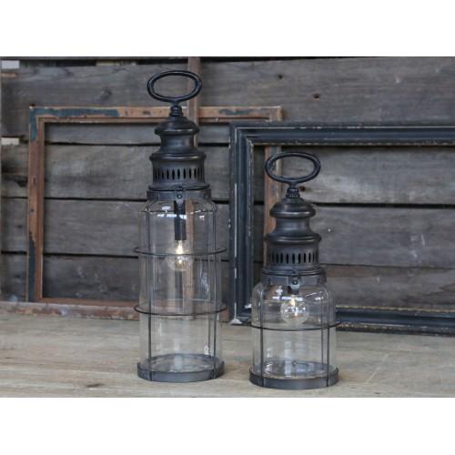 Fransk stald lanterne H: 42 cm. (smal)