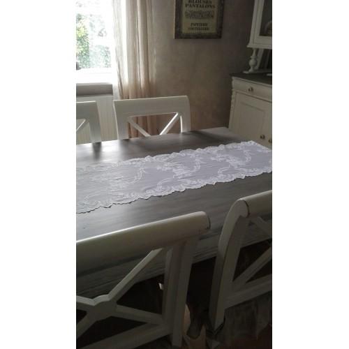Hvid blonde bordløber pr. meter