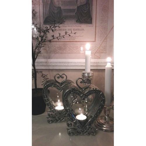 Antiksølv hjerte lanterne