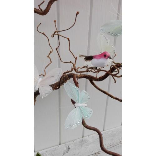 Fugl med clips (Pink)